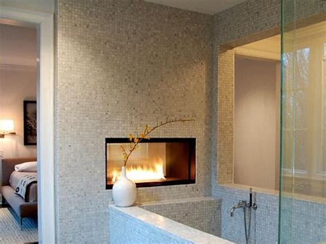 fireplace in bathroom wall bathroom fireplaces diy