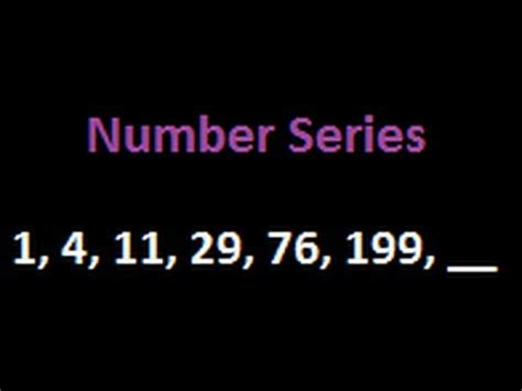 number pattern youtube number patterns and puzzle 1 4 11 29 76 199 521