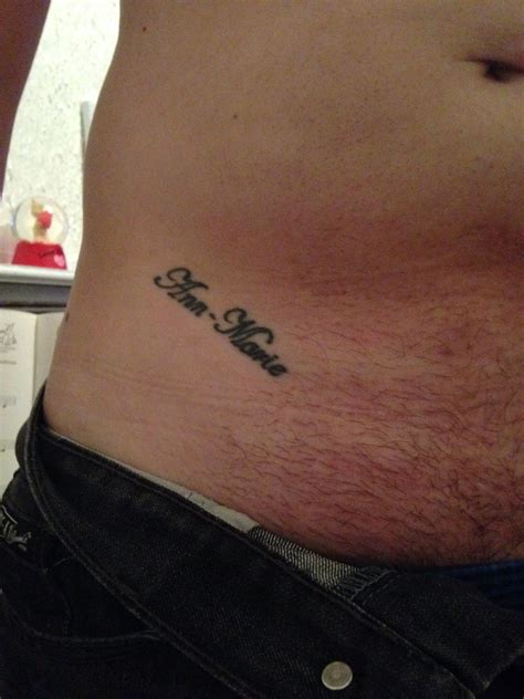 pelvic tattoos my s name on my hip pelvis pelvis stomach s