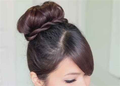 Sock Bun Hairstyles by Step By Step Tutorial For Twisted Sock Bun Updo Hairstyle