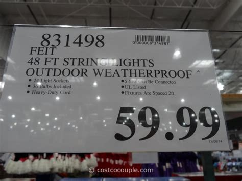 feit electric string lights 24 wonderful outdoor string lights costco canada
