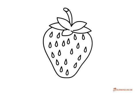 Strawberry Coloring Pages Downloadable And Printable Images Easy Templates