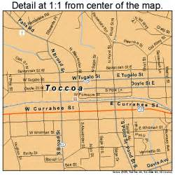 map of toccoa toccoa map 1376756