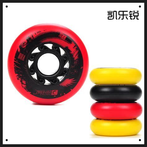 Wheels Wheels High 4 88a quality pu inline roller skates wheels 72 76 80mm high elasticity freestyle roller