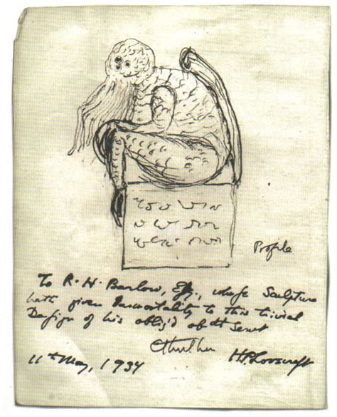 H P Lovecraft Sketches cthulhu