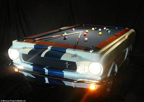 mustang pool table motoring fanatics at florida based car pool tables turn vintage mustangs into pool tables