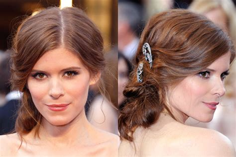 Wedding Hairstyles With Side Swept Bangs by Wedding Hairstyles Kate Mara Side Swept Bangs Studio 417