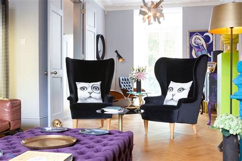 Design For Wingback Dining Room Chairs Ideas Property In Transformed Into An Indulgent Bachelor Pad Best Of Interior Design