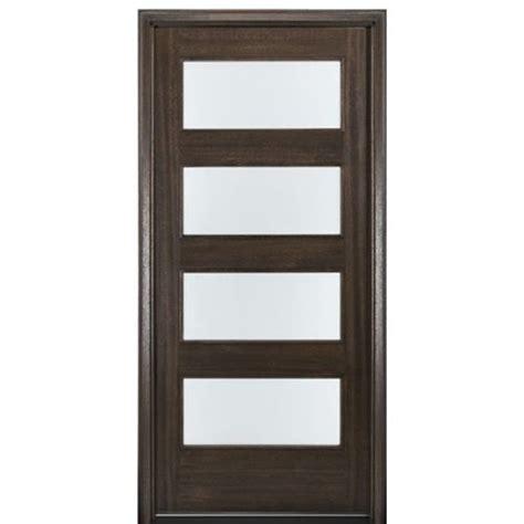 mai doors c4 1 4 lite contemporary 80 quot mahogany entry