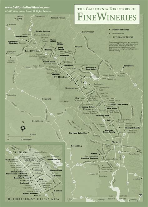 florida wine country guide to northern wineries books map of wineries in napa valley california