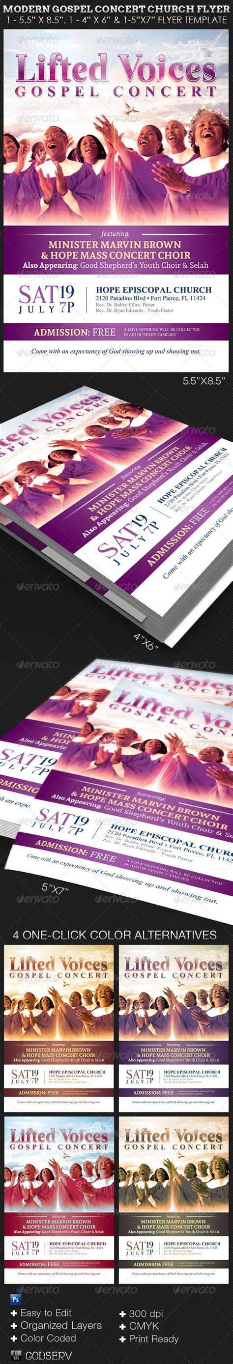 Modern Gospel Concert Church Flyer Template By Godserv On Deviantart Gospel Church Flyer Template