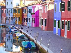 italy colorful houses bright home on a canal on the island of murano italy