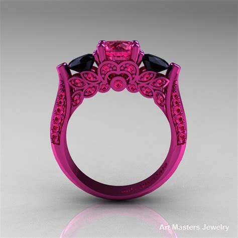 black sapphire rings with diamonds images