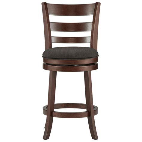 Counter Height Swivel Bar Stool Homelegance Edmond 1144e 24dgl Counter Height Swivel Stool With Upholstered Seat Sol
