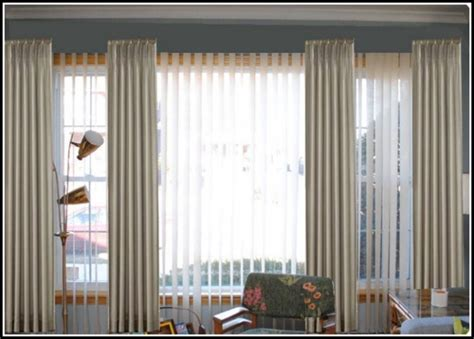 drapes and sheers together sheer curtains over wooden blinds curtains home design