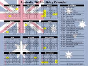 Calendar 2014 Template Australia by 2016 Calendar With Australian Holidays Calendar