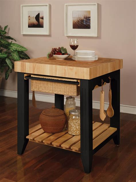 color story butcher block kitchen island black 502