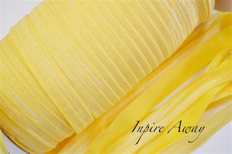 Welcoming Nollie To The Shiny Fold by Light Yellow 5 8 Quot Fold Elastic Shiny Elastic