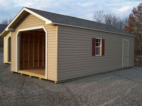 outdoor with prefab wooden garage kits and
