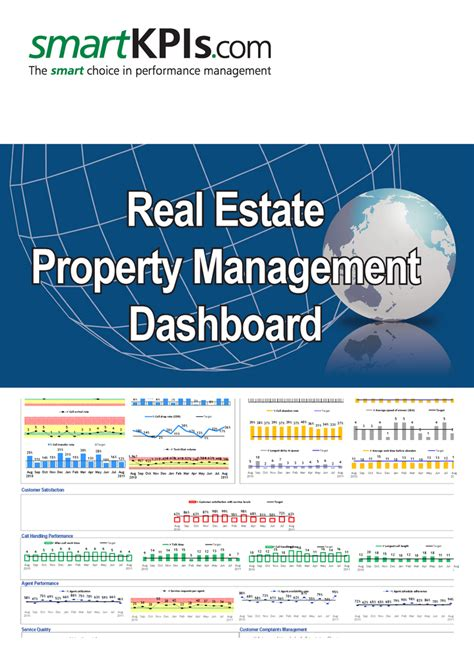Real Estate Property Management Dashboard Pre Populated Excel Templates Real Estate Dashboard Templates