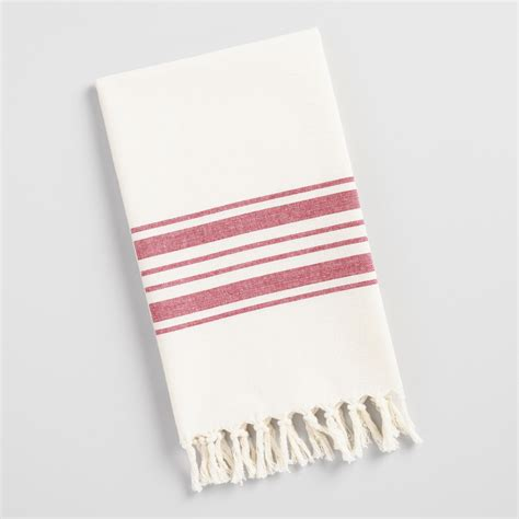 kitchen towels villa stripe kitchen tea towel world market