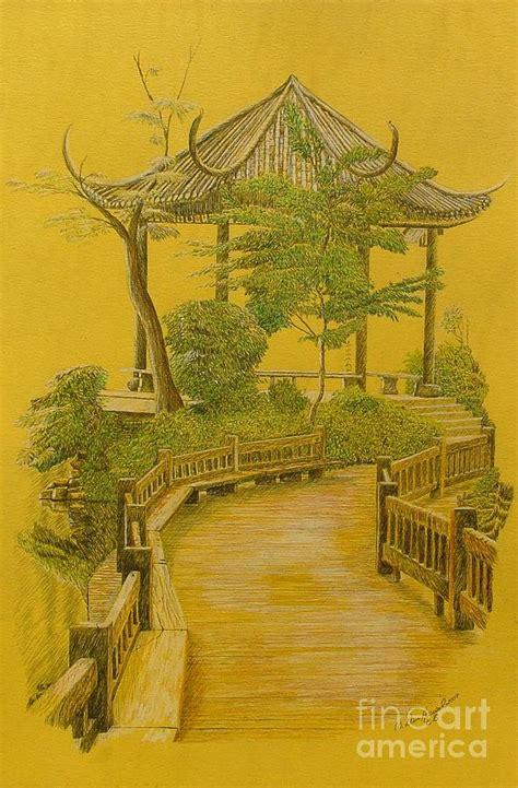 japanischer garten zeichnung japanese garden drawing by dan hausel