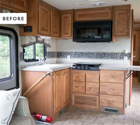 the progress of our rv kitchen cabinets mountain modern