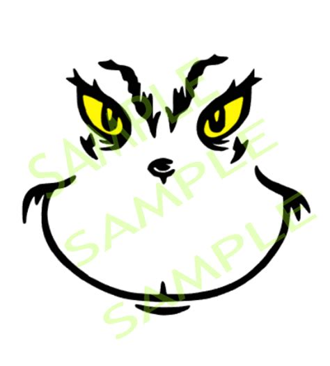 printable grinch face cut designs grinch face cut desgn