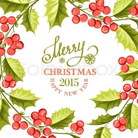 christmas mistletoe drawing  card stock vector colourbox