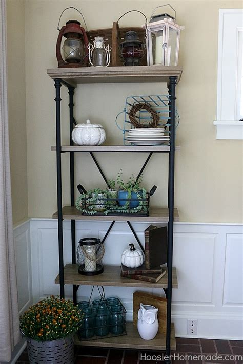 easy farmhouse shelf decor hoosier homemade