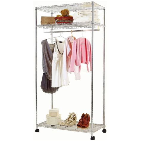 qiq living mobile garment rack 910x460x1750mm chrome sku