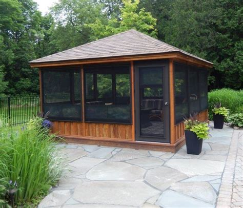 screened in gazebo home decor