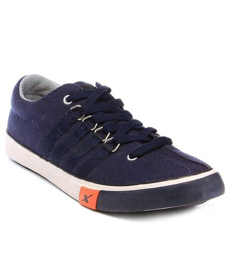 sports canvas shoes buy sparx navy canvas sport shoes for snapdeal