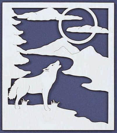 cry   wolf fretwork scroll  pattern scrollsawcom