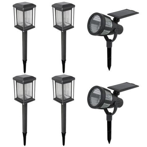 Malibu Outdoor Lighting Kits New Malibu 6 Pc Warm White Led Solar Prominence Landscape Light Kit Ebay