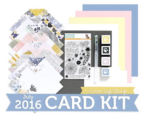 card monthly kits monthly card kit simon says st