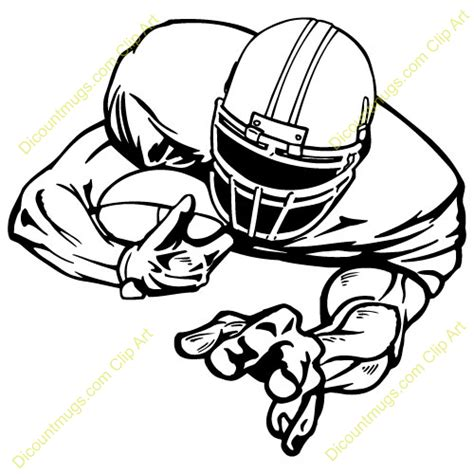 football player clip football player clipart black and white clipart panda