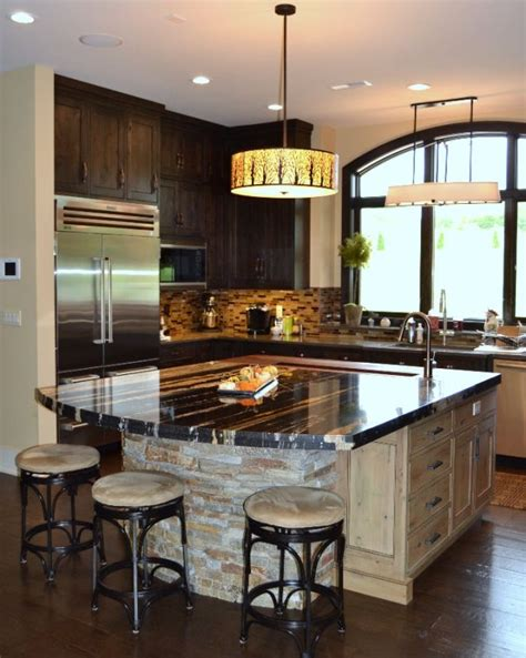 elegant long island kitchen design for a large scale room custom designed kitchens portfolio cabinets and counters