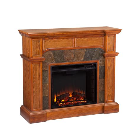 Oak Electric Fireplace 45 5 Quot Cartwright Convertible Mission Oak Electric Fireplace Fe9285