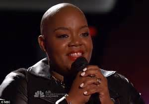 tonya boyd cannon alopecia the voice contestant turns four chairs after being