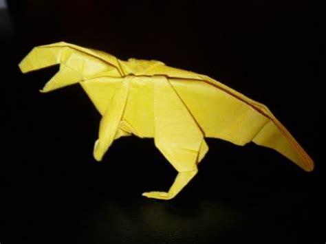 Origami Allosaurus - origami dinosaur allosaurus