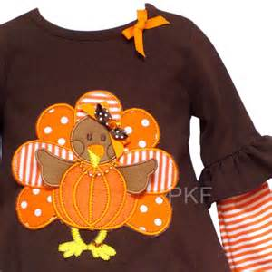 About new baby girls thanksgiving turkey boutique size 24m clothes nwt