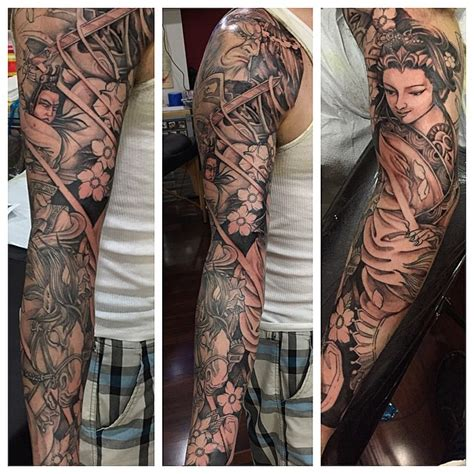 omkara tattoo inspired japanese sleeve in progress update nha