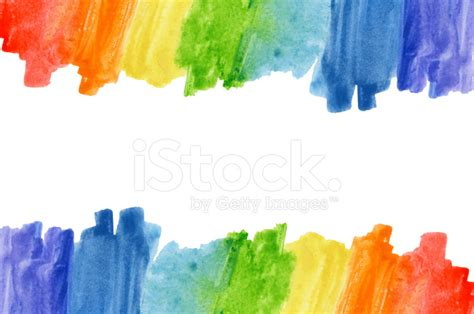 Multi Family Design by Abstract Watercolor Rainbow Colors Background Stock Photos