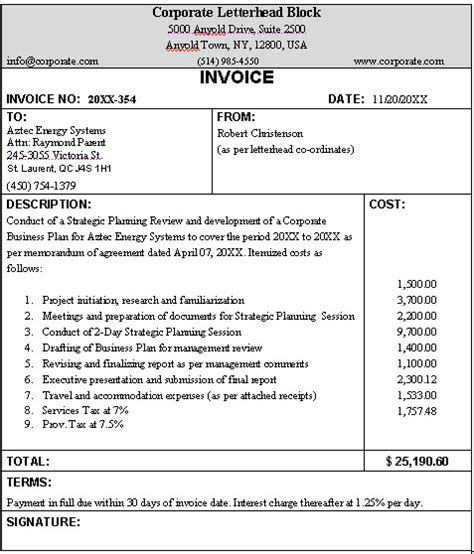 Invoice Requirements Letter Business Invoice Sle Format For A Typical Business Invoice