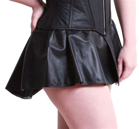 leather peplum skirt leather 64 ten
