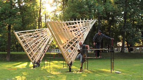 pavillon architektur holz exhibition pavilion inspired by podlachian wooden