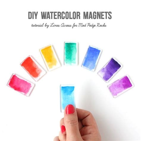 coole magnete diy watercolor magnets lines across