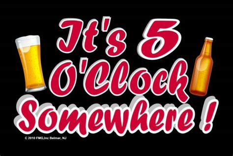 Its 5 Oclock Somewhere by Signs For Our Lives Happy Hour Cocktail Signs