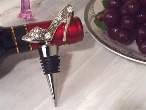 wine bottle stopper bridal shower favors chrome high heel shoe wine bottle stopper bridal